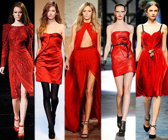 Платье красное модное фото